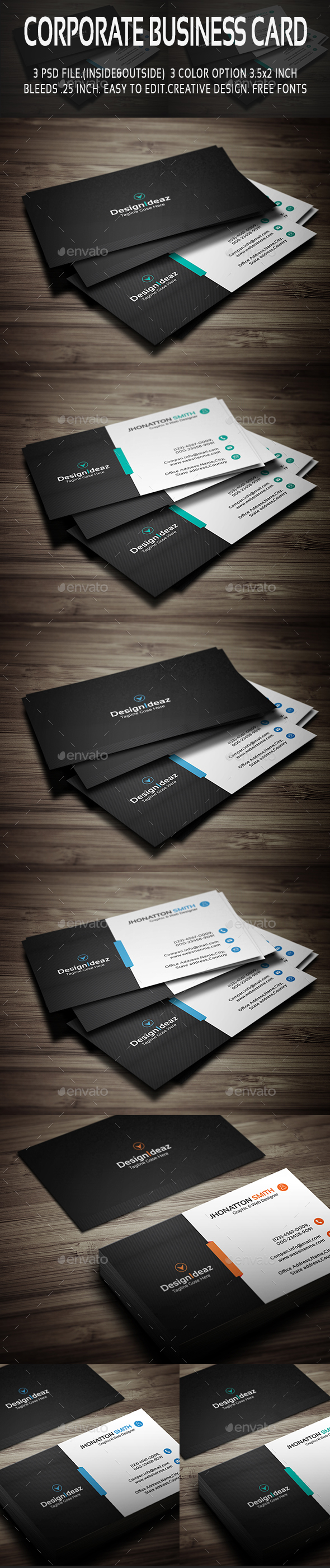 Corporate Business Card V01 - Corporate Business Cards