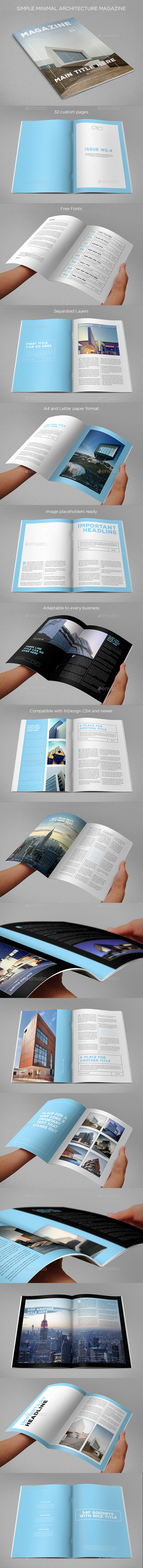 Simple Minimal Architecture Magazine - Magazines Print Templates