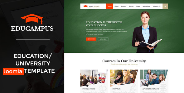 Educampus – Education & University Joomla Template
