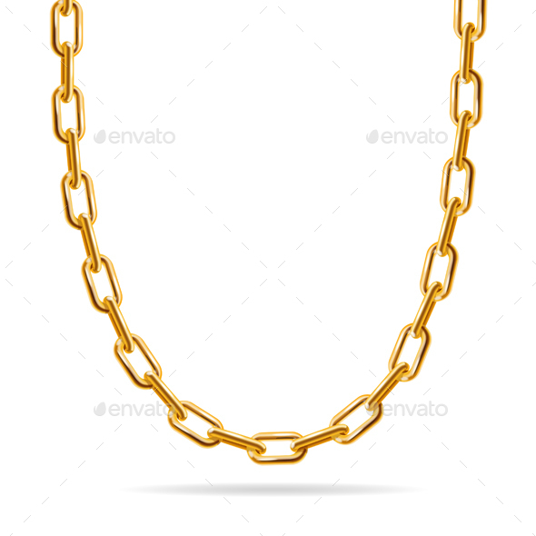 Gold Chain Jewelry - Man-made Objects Objects