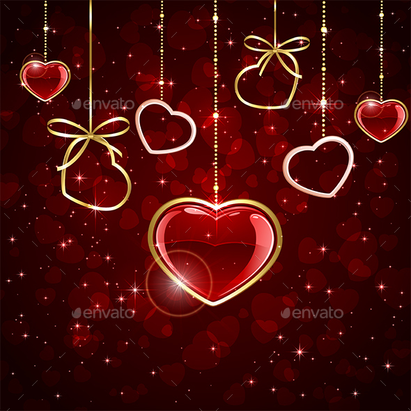 Hanging Hearts - Valentines Seasons/Holidays