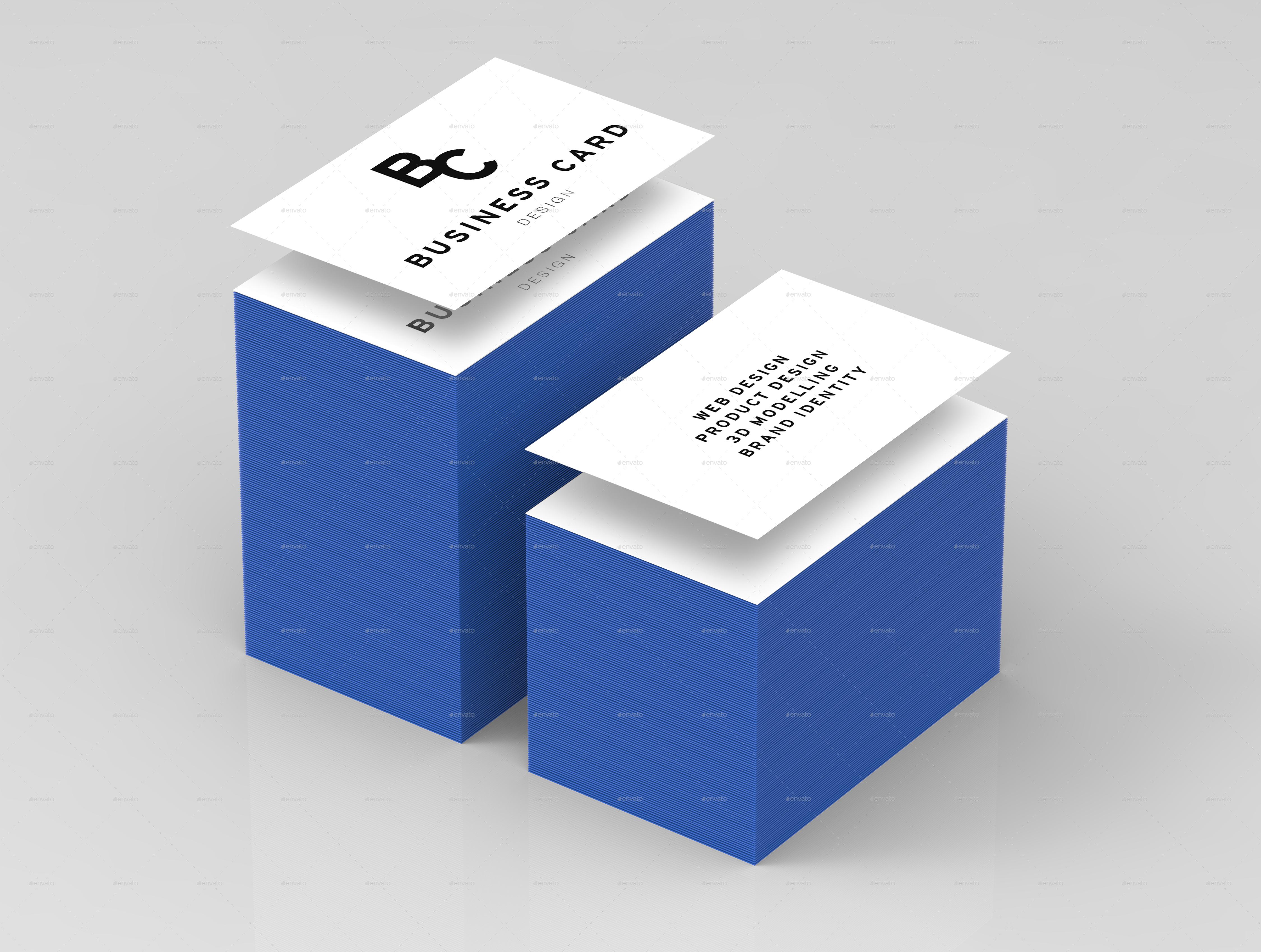 business card stack mock up by samdrewdesign