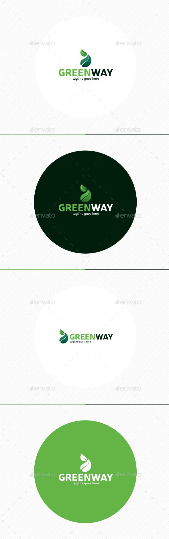 Green Way Logo - Nature Logo Templates