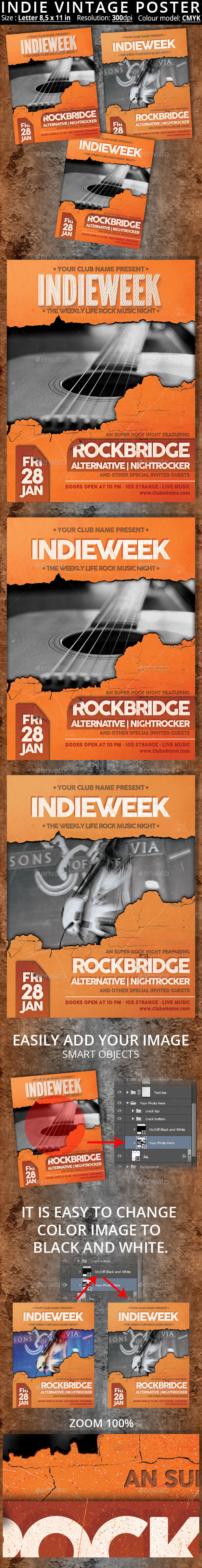 Indie Vintage Poster - Clubs & Parties Events