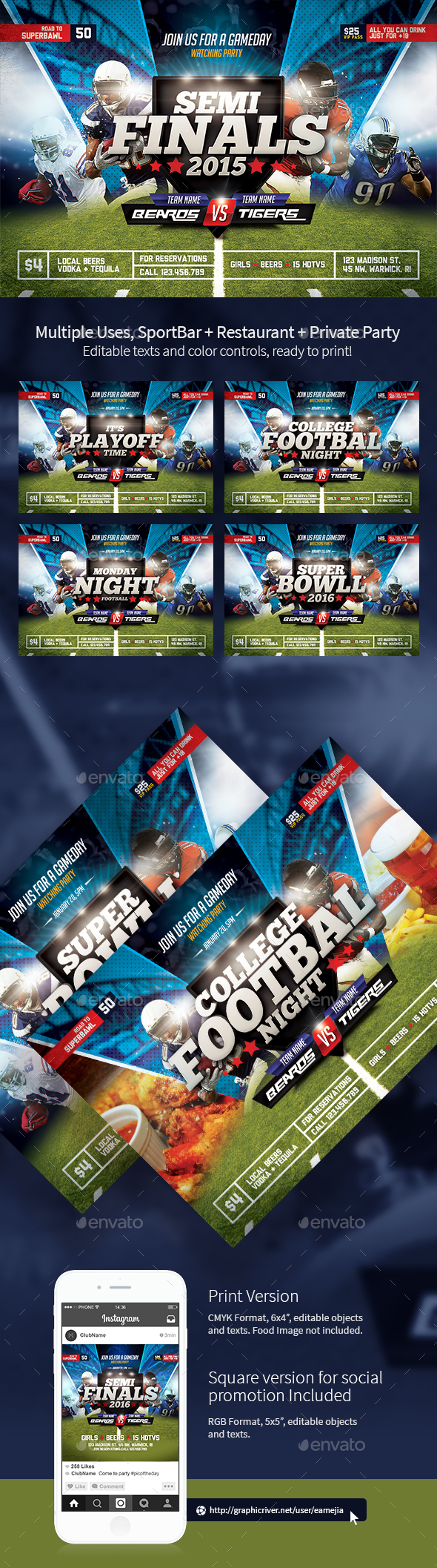 Super Ball - American Football Flyer - Sports Events