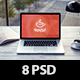 8 PSD Creative Office Mockups - GraphicRiver Item for Sale