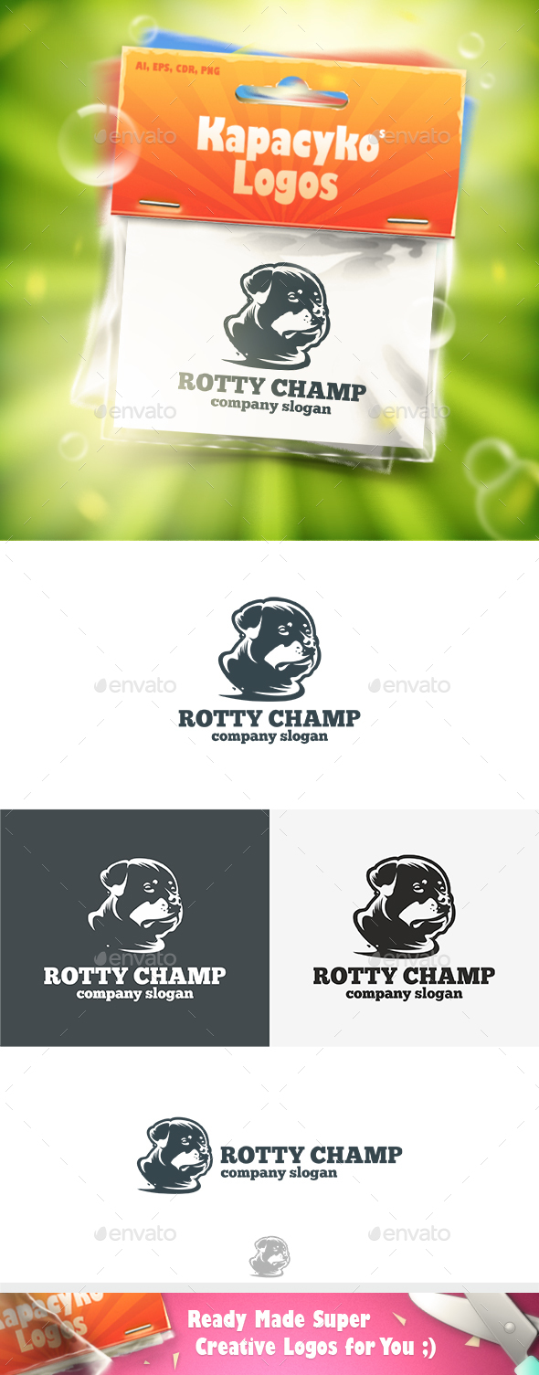 Rotty Champ Logo - Animals Logo Templates