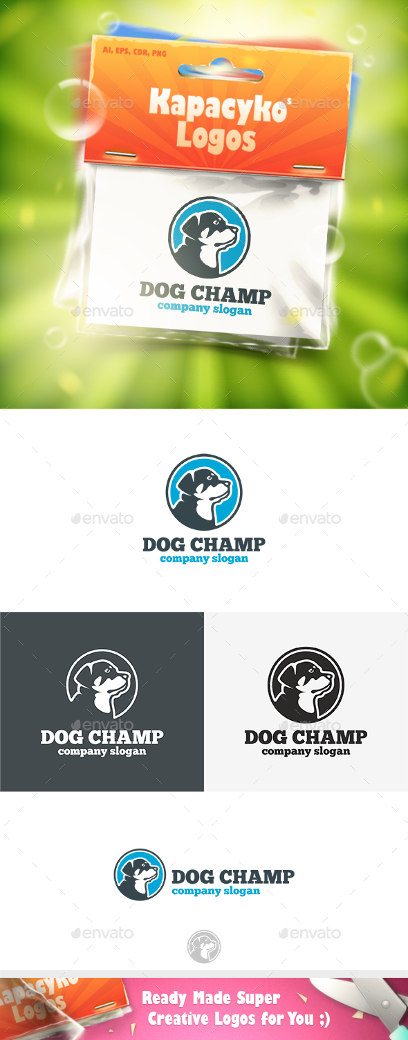Dog Champ Logo - Animals Logo Templates