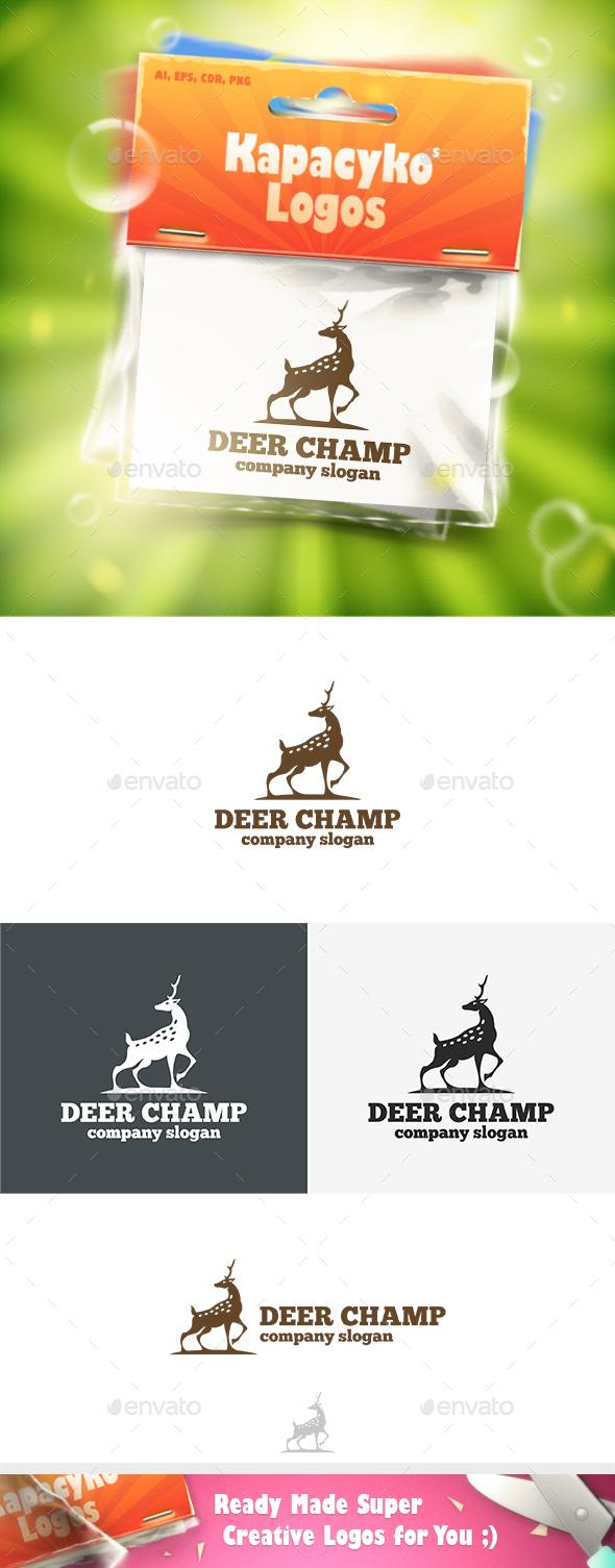 Deer Champ Logo - Animals Logo Templates