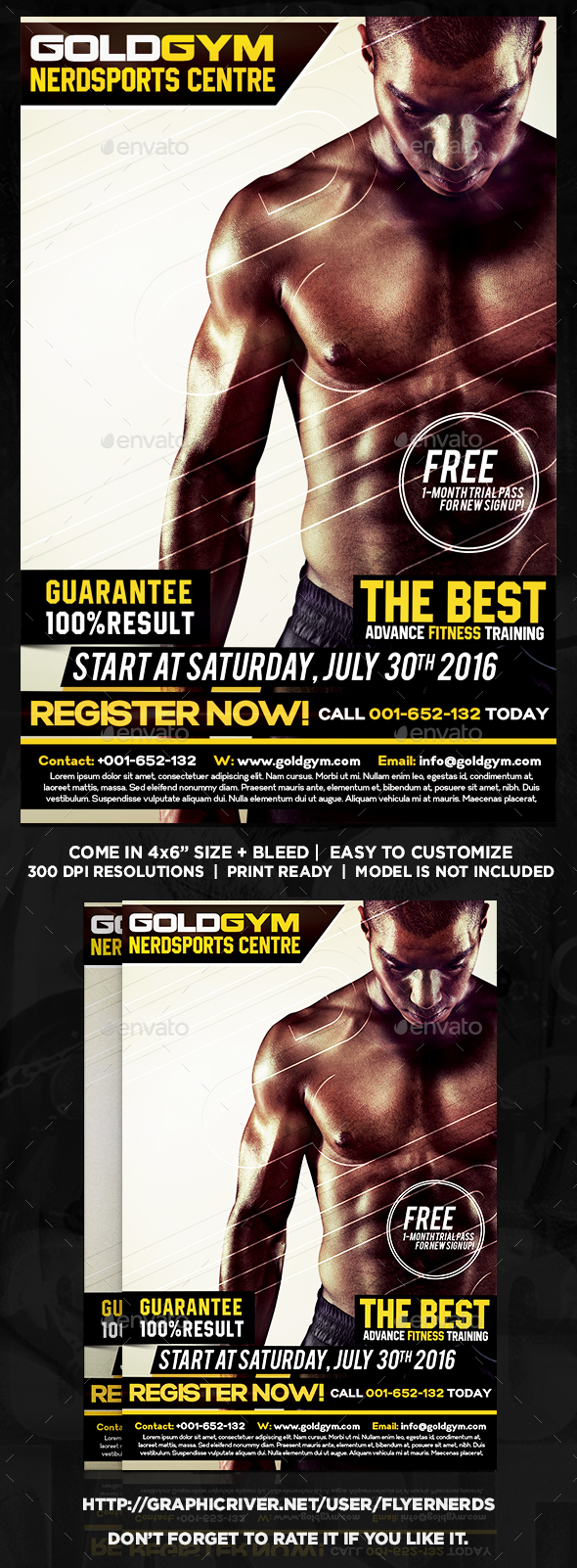 Gym Promotion Sports Flyer - Sports Events