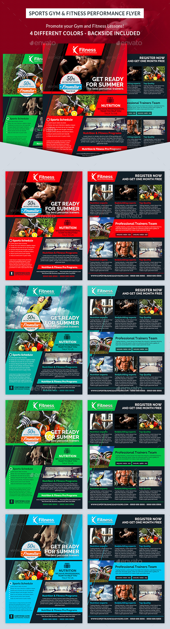 Sports Gym & Fitness Performance Flyer - Sports Events