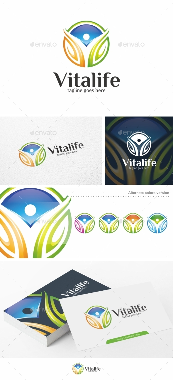 Vitalife - Logo Template - Nature Logo Templates