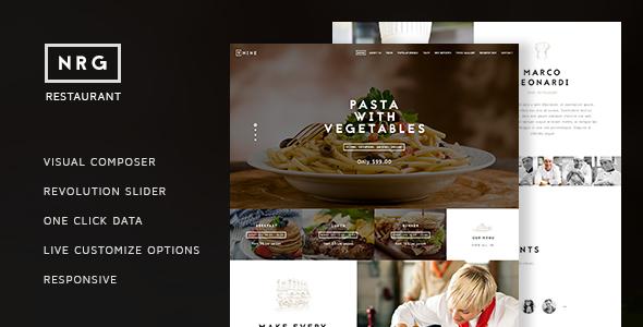 NRG Restaurant – Restauranteur & Catering Theme