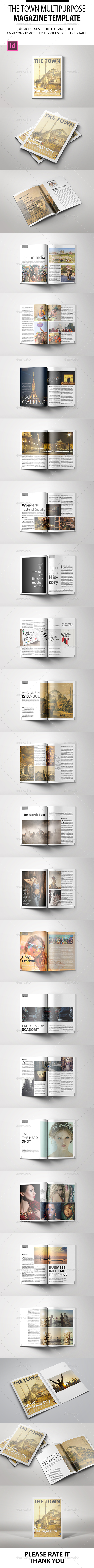 The Town Magazine Template - Magazines Print Templates