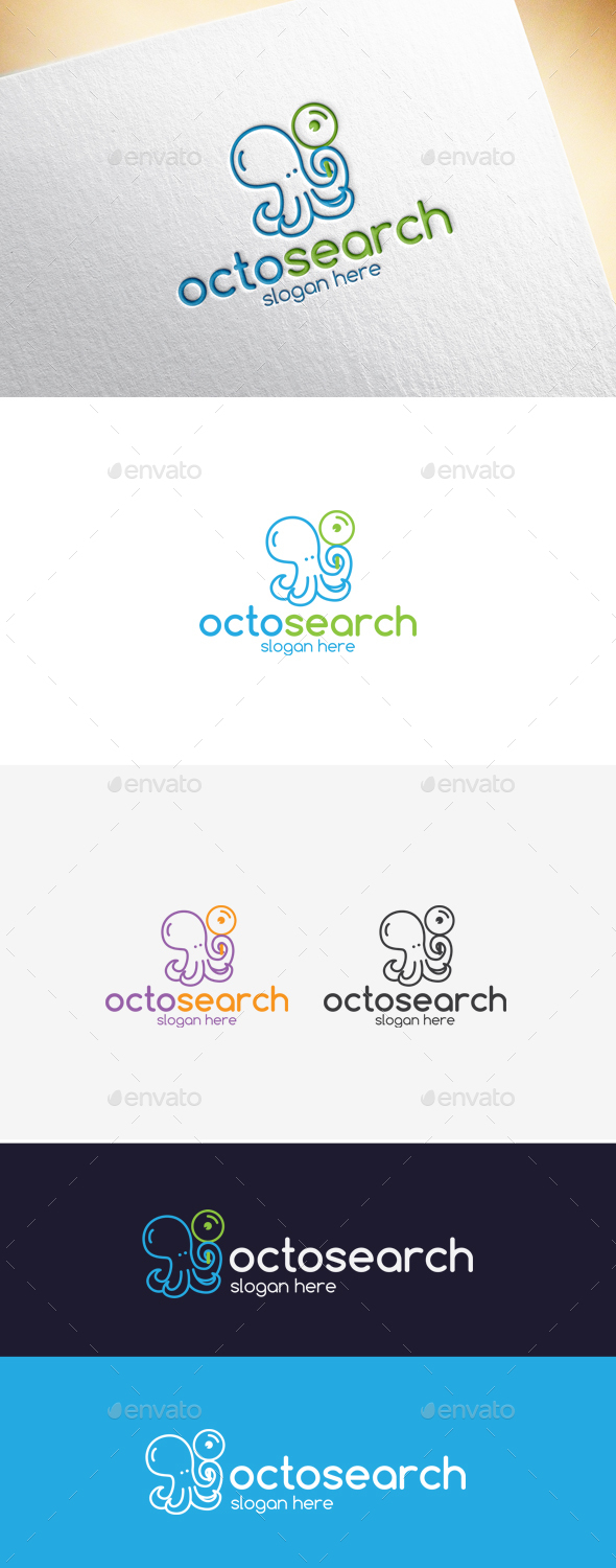 Octosearch Logo Template - Animals Logo Templates