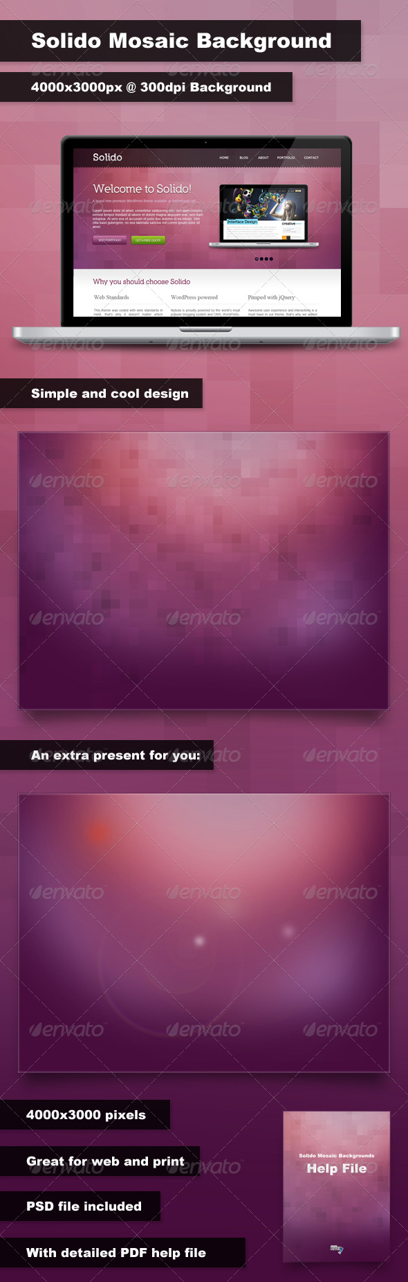Solido Mosaic Background - Backgrounds Graphics