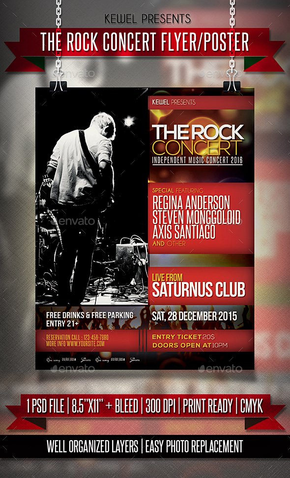 The Rock Concert Flyer / Templates - Events Flyers