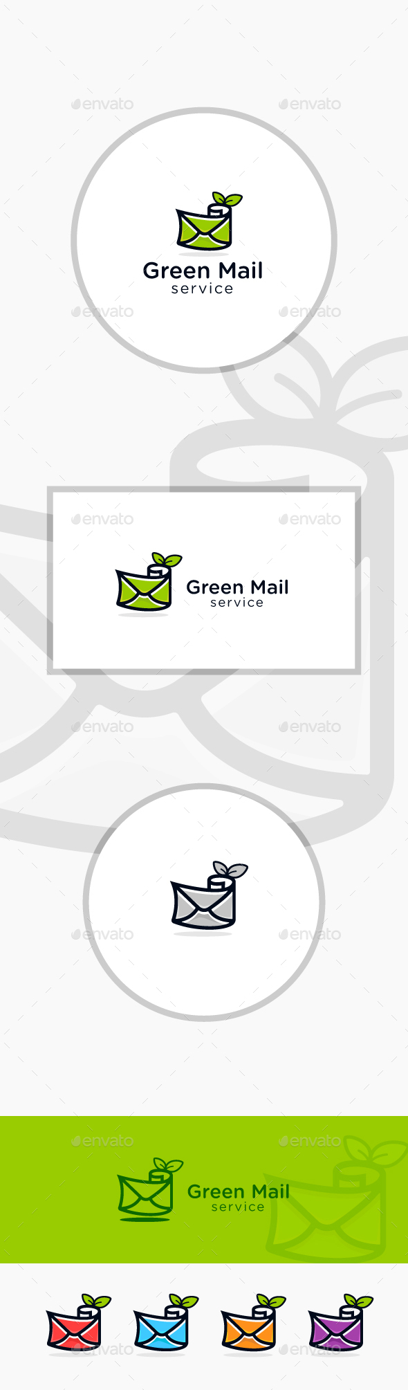 Green Mail - Symbols Logo Templates