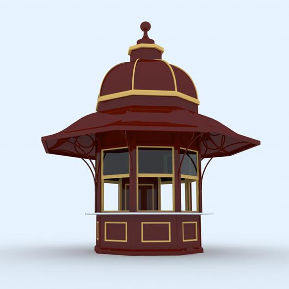 Kiosk, Quiosque - 3DOcean Item for Sale