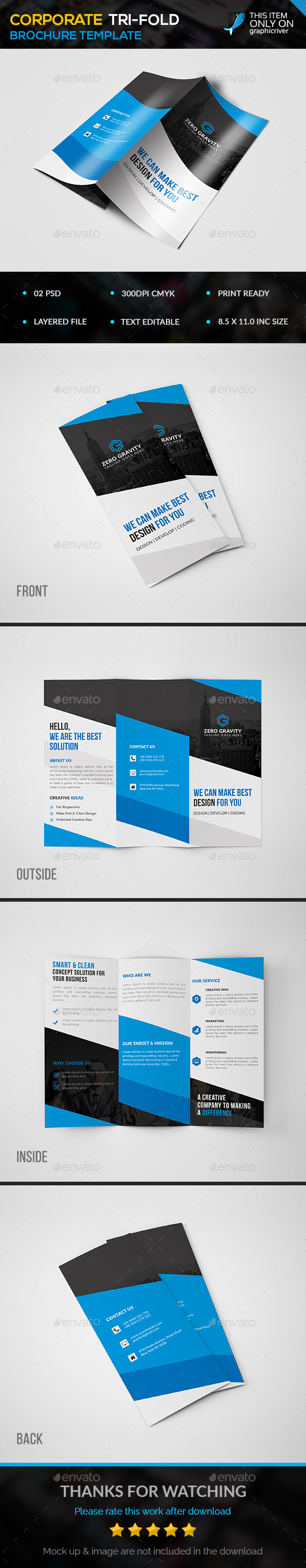 Corporate Trifold Brohure - Corporate Brochures