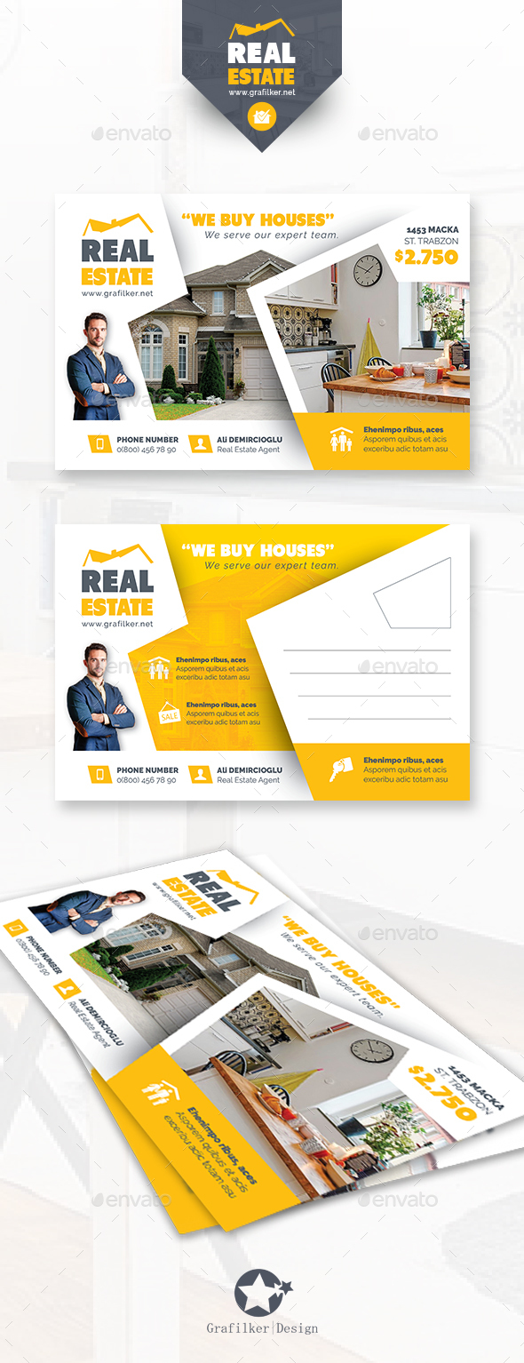 Real Estate Postcard Templates - Cards & Invites Print Templates
