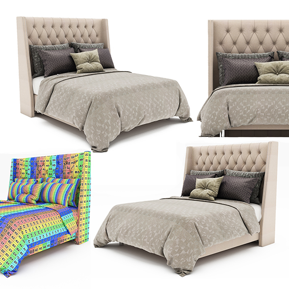 Bed collection 44 - 3DOcean Item for Sale