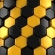 Abstract Background of Yellow and Black Honeycombs - VideoHive Item for Sale