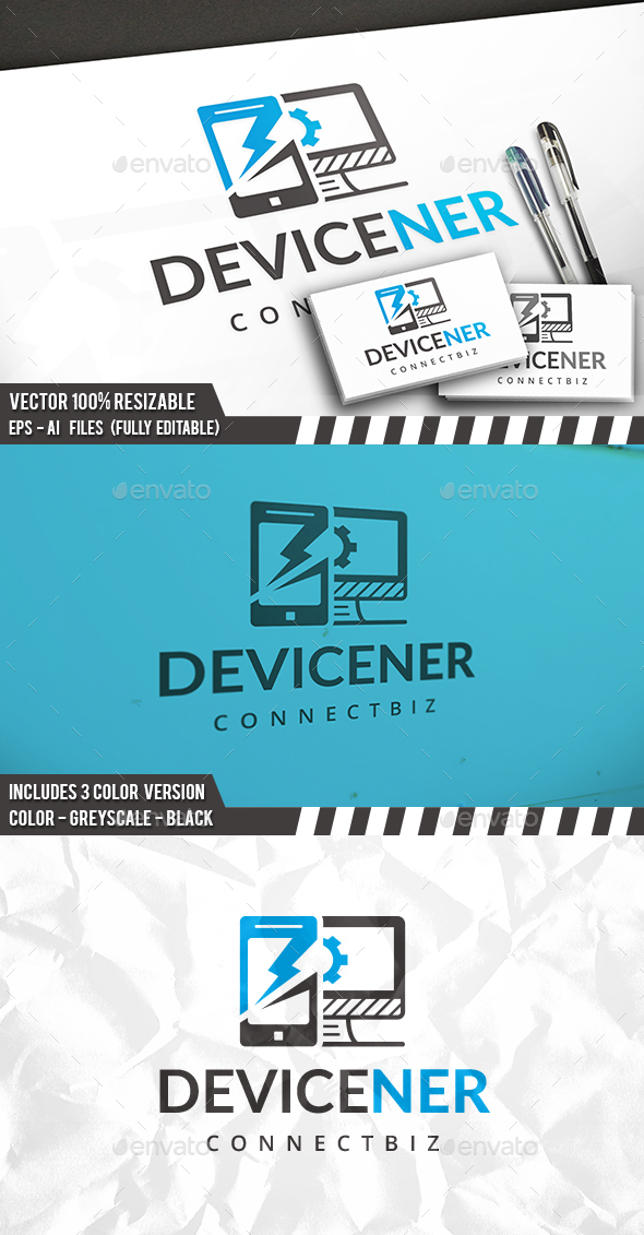Device Repair Logo - Objects Logo Templates