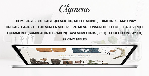 Clymene - Multipurpose Muse Template