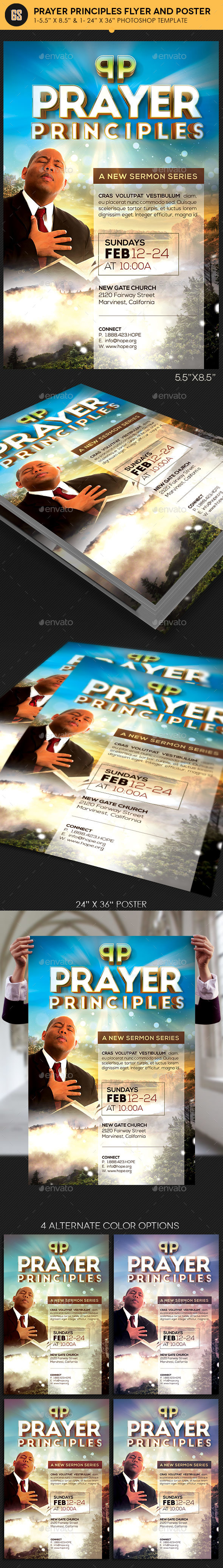 Prayer Principles Flyer Poster Template - Church Flyers
