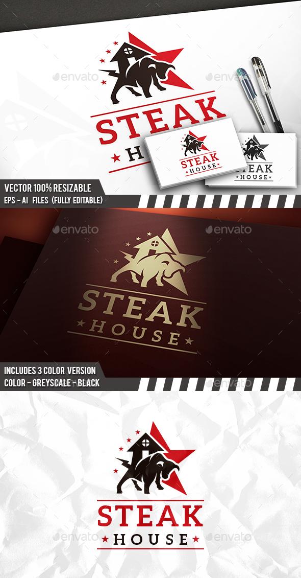 Steak House Logo - Animals Logo Templates