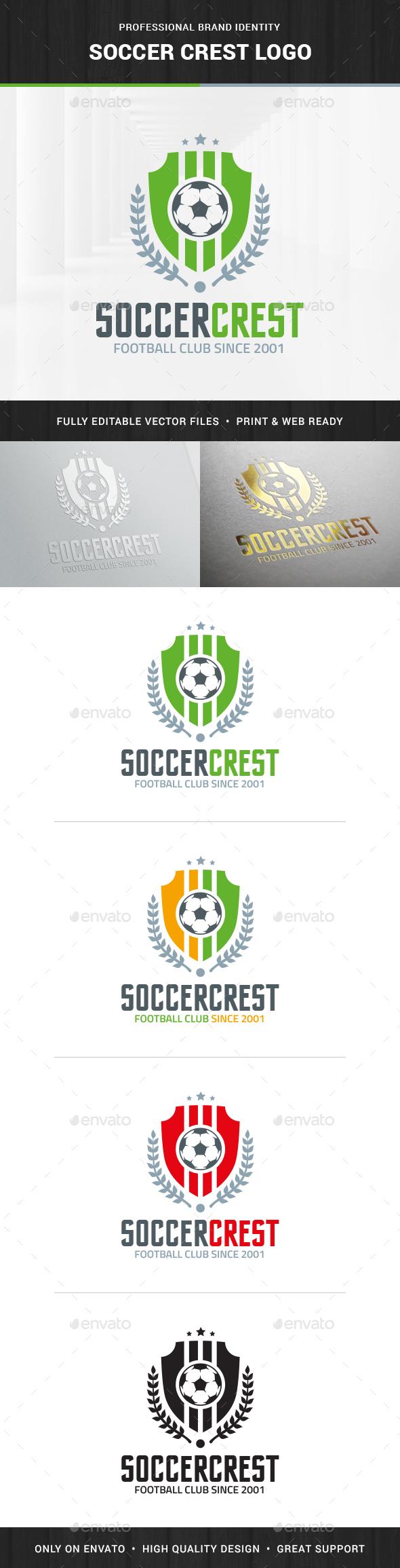 Soccer Crest Logo Template - Logo Templates