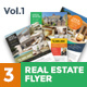 3 Premium Real Estate Flyer - GraphicRiver Item for Sale