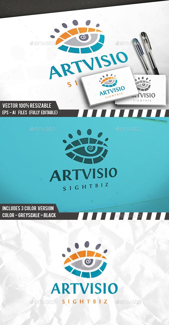 Art Eye Logo - Vector Abstract