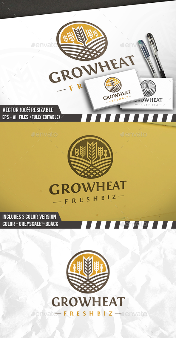 Wheat Logo Template - Nature Logo Templates