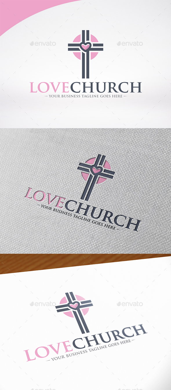 Love Church Logo Template - Symbols Logo Templates