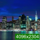 Lights of the Skyscrapers are Lighting Up on Manhattan - VideoHive Item for Sale