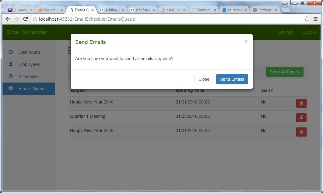 Email Scheduler and Bulk Email Sender