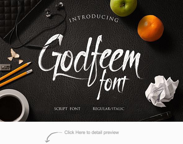 Godfeem Font - Hand-writing Script