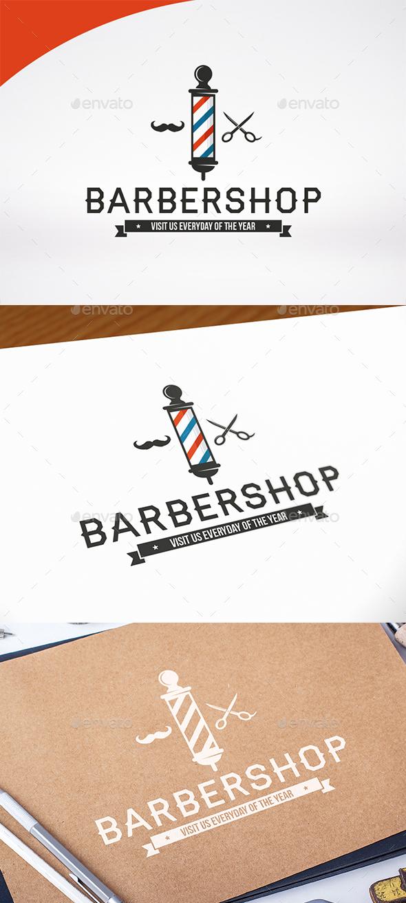 Barber Shop Logo Design - Crests Logo Templates