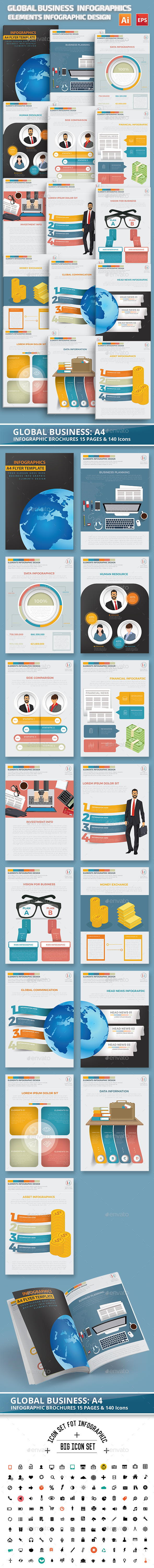 Global Business Infographics Design - Infographics