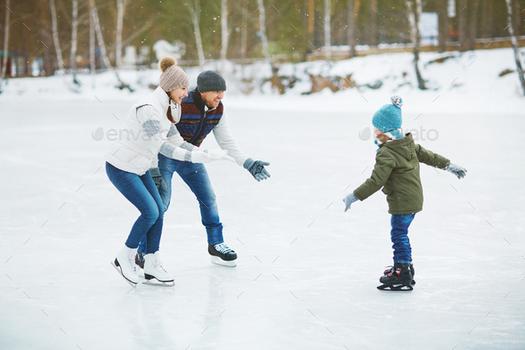 Ice skating - Stock Photo - Images
