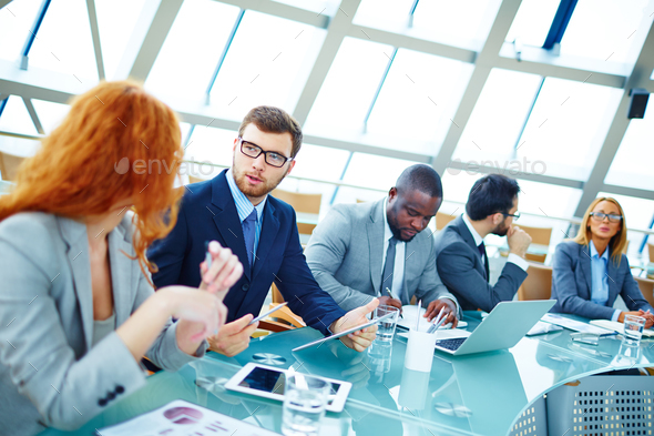Busy business people - Stock Photo - Images