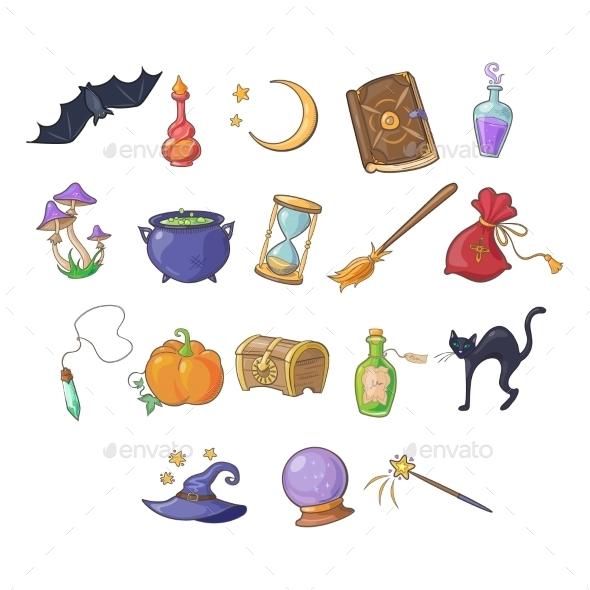 Haloween And Game Icon Vector Set - Halloween Seasons/Holidays