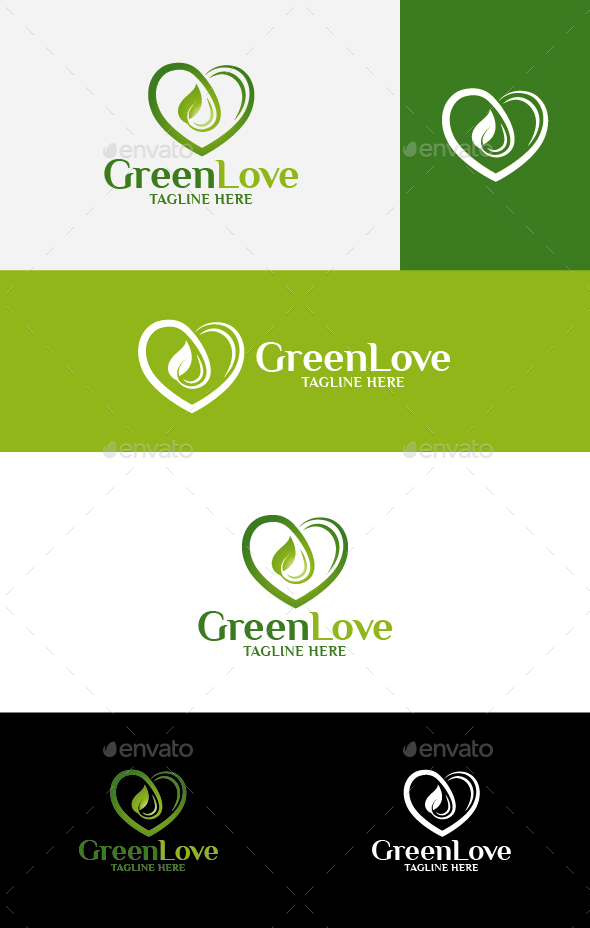Green Love - Nature Logo Templates