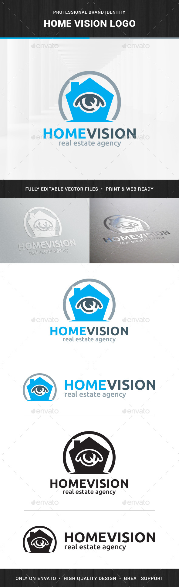 Home Vision Logo Template - Buildings Logo Templates