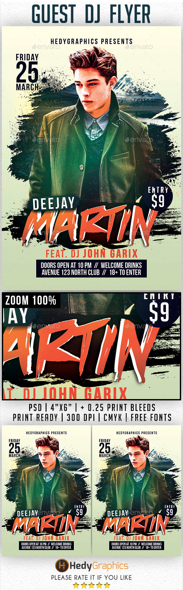 Guest DJ- Flyer Template - Clubs & Parties Events