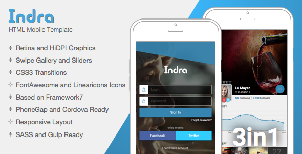 Indra | Mobile & Tablet Responsive Template