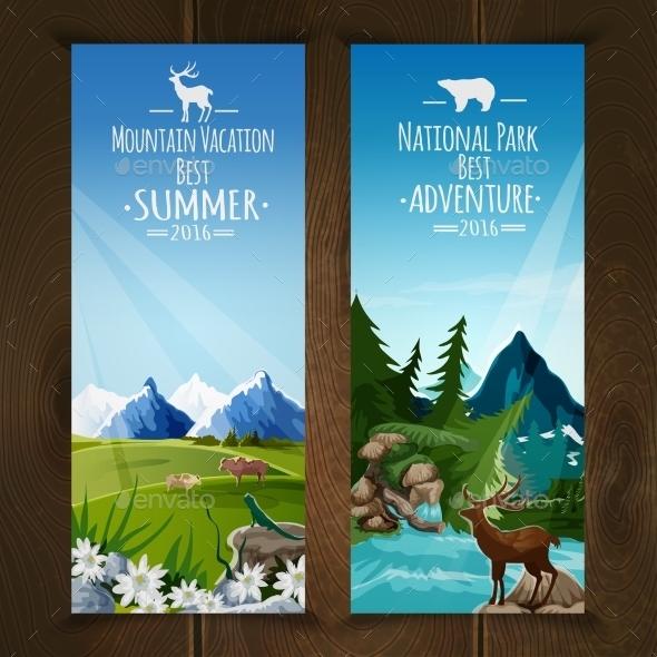 Landscape Banner Set - Nature Conceptual