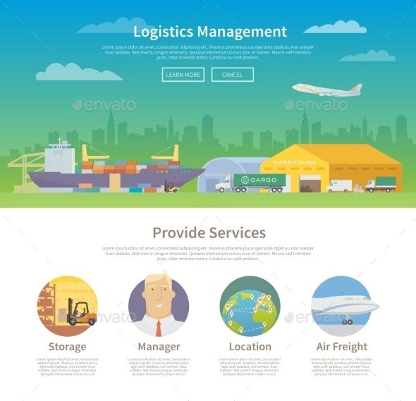 One Page Web Design Template. Logistics. - Travel Conceptual